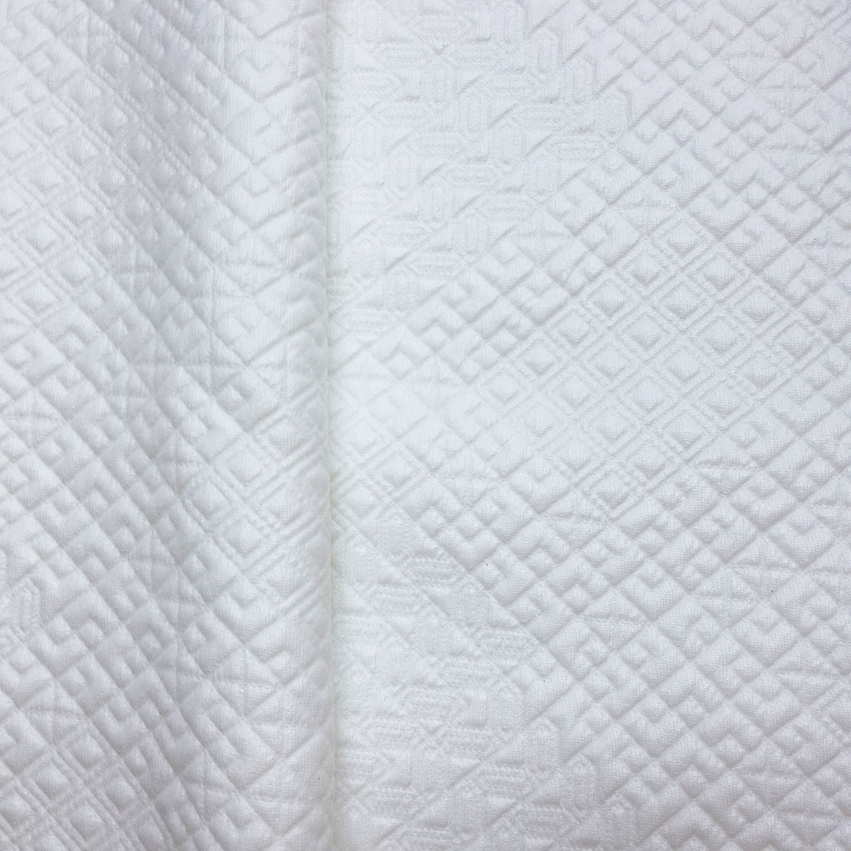 white pu faux leather fabric fat quarter