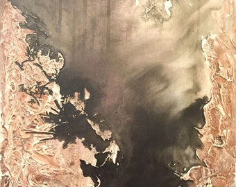 20x16 Ink Wash Abstract Painting V2