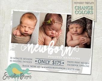 Newborn Mini Sessions PHOTOSHOP TEMPLATE - Mini Photoshoot 29