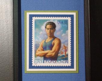 Duke Kahanamoku - Framed Postage Stamp - No. 3660