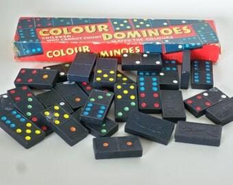 Vintage Colour Dominoes Spear's Games