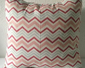 Chevron Pillow Covers, Pink Mauve Blue Chevron Accent Pillows, Throw Pillow Covers, Home Decor, Zig Zag Pillows, Cushion Covers
