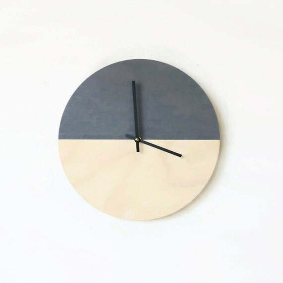 Wall Clock Trending Minimalist Art Natural Wood By Shannybeebo