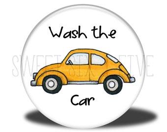 Wash the Car - Chore Magnet