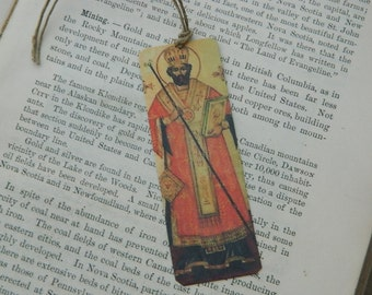 Saint bookmark Saint Valentine metal bookmark