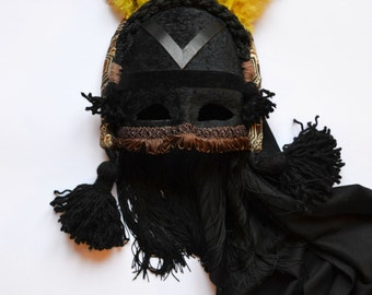 black summer festival mask
