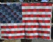 Custom listing for Lisa-American flag baby quilt