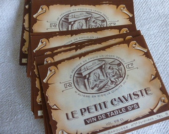 20 Wine Labels French Vintage.