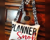 Planner Snob Decor Hanging Pillow Small Throw Pillow Accent Pillow Gift Black White Pink