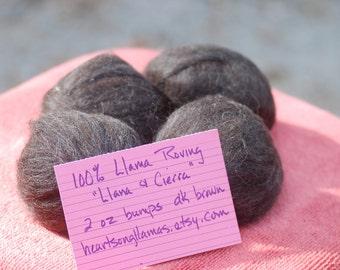 3 Bumps 100% Llama Roving - Cierra & Llana Blend