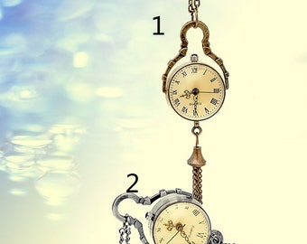 The crystal ball  pocket watch necklace pendant, Retro necklace, necklace supe Charm handmand DIY accessories