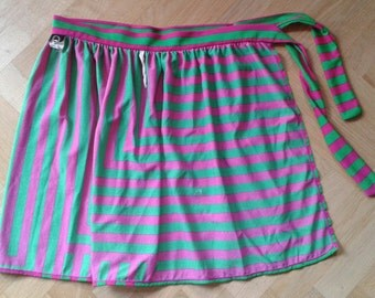 Vintage 1980S FENDI Overlay skirt with side tie, Size Xs/Small, 80s BeachWEAR, 80s Vintage LUXURY BEACHWEAR,  Made in Italy