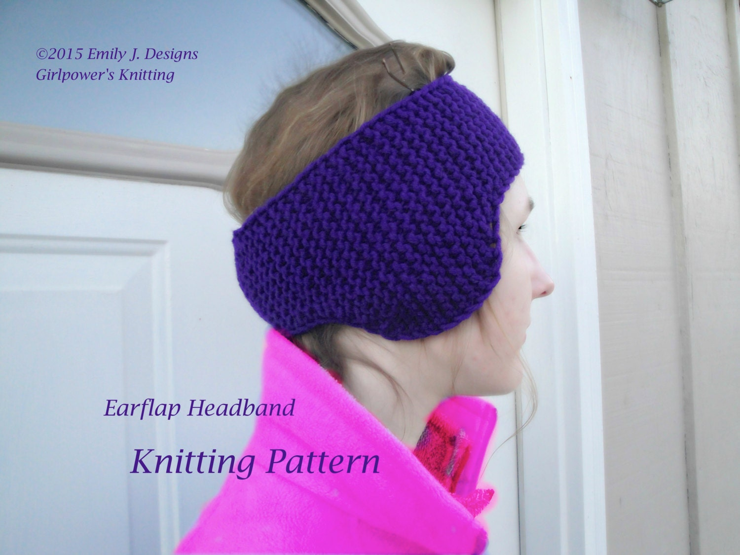 How To Knit Color Patterns : Earflap Headband Knitting Pattern Ear Flap Earwarmer Chunky