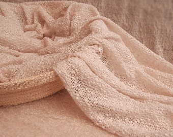Ivory - Stretchy Layering Wrap Blanket - Newborn photography Props