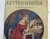 Antique   Book The model letter-writer by Nelly Greenway 1800s complete guide for letter writing