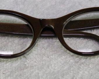 Vintage Authentic Jason USA Cat Eye Rhinestone Rx Glasses