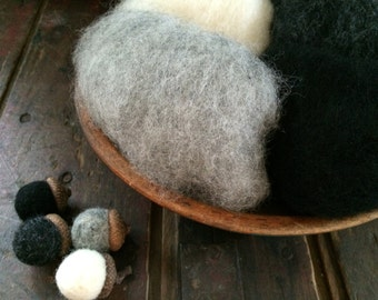 Needle Felting Wool - Chimney Sweep Wool Sampler-Wet Felting Wool