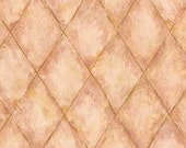Dollhouse Miniature Wallpaper, Tuscan Terra Cotta, Scale One Inch