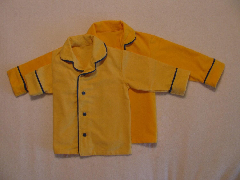 Polar Express Teen Golden Yellow Boys Pajamas By Webejamminpjs