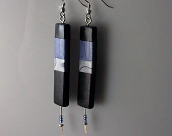 Polymer Clay Dangle Earrings - WEARABLE ART!!!