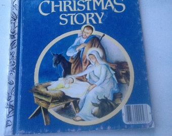 Vintage Little Golden Book The Christmas Story, Vintage Children's Christmas Books