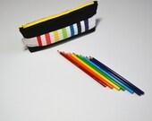 Pencil Case, Pencil Pouch, Zipper pouch, Art Case, School Supplies, Rainbow, Back To School