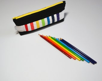 Pencil Case, Pencil Pouch, Zipper pouch, Art Case, School Supplies, Rainbow, Back To School