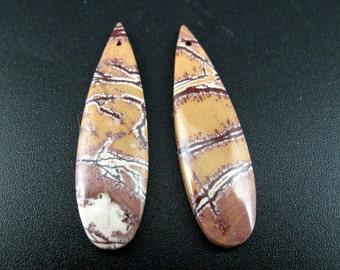 Beautiful  sonoran jasper  earrings pair, drill,  Natural stone, dangle earrings, Jewelry making supplies S7213