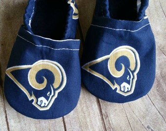 LA Rams Cloth Baby Booties