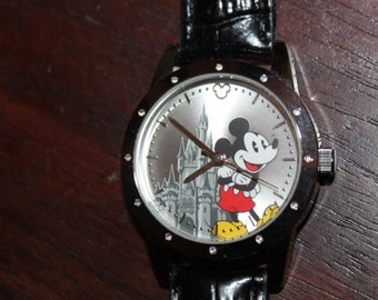 Walt DISNEY WORLD Limited Release Watch with Leather Band -- works well, like new