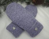 Women's lavender cashmere mittens fleece lined size medium RTS super soft