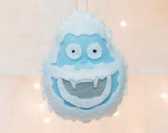 Felt Ornament - Abominable Snowman Ornament - Felt Yeti Ornament