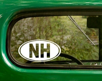 Oval NH Decal, 2 Decals, Oval New Hampshire Sticker, New Hampshire Decal, Laptop Sticker, Oval Sticker, Bumper, Vinyl Decal, Car Sticker