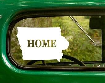 Iowa Decal, Car Decal, State Sticker, Laptop Sticker, Iowa Sticker, Bumper sticker, Vinyl Decal, Car Stickers