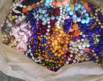 Destash of Mardi Gras Style Necklaces