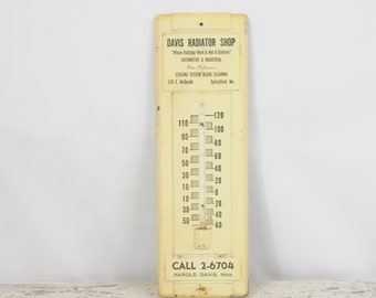 Vintage Advertising Thermometer Springfield MO Davis Radiator Shop