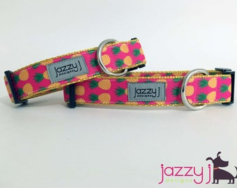 Pineapple Poocach Summer Dog Collar