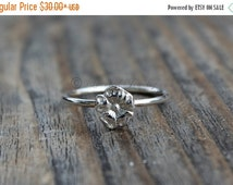SUMMER SALE Sterling Silver Posey Flower Ring - Sterling silver - Flower Jewelry Nature