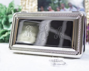 Rectangle Beaded Detail Jewelry Box
