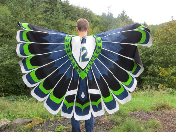 Seahawks Blanket Cloak Ready To Ship Seattle Team Colors