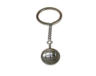 Shiny Gear Shift Pendant Keychain