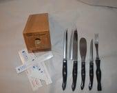 "Cutco Galley Block 8 pc French Chef Slicer Trimmer 4 "" Paring Fork Super Sharp"