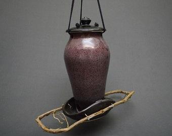 Pottery Bird Feeder