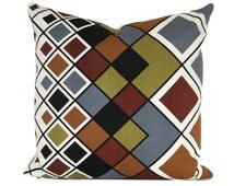 """Cushion Cover Vintage 1970s Harlequin Fabric Evelyn Redgrave For Heals 18"""""""