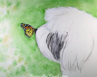 Old English Sheepdog Print, Sheepdog Giclee Print, OES Print, Sheepdog Painting, Watercolor Sheepdog, Sheepdog Watercolor, Sheepdog Gifts