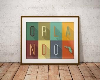 Orlando Grid - Typography Print
