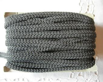 German Vintage Dark Grey Gimp Trim made in the 80s, Sewing Crafting Supply / Sold per Yard