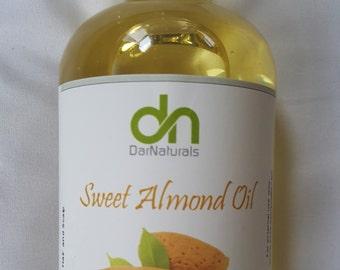 Sweet Almond Oil - Pure Sweet Almond Oil - Carrier Oil - Massage Oil - Facial Oil  - Hair Oil - Face Oil - Ounces - 4 Ounces