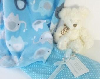 Baby Blanket, Baby's Fleece Crib Blanket/ Quilt/ Travel Blanket