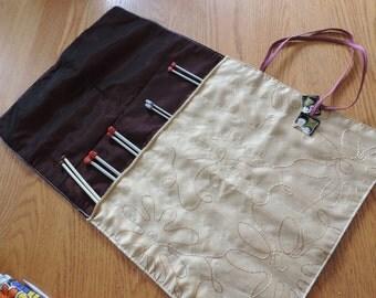 knitting needle roll - knit holder